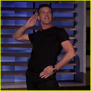 Antonio Banderas Teaches 'A Chorus Line' Choreography to Conan O'Brien - Watch Now!