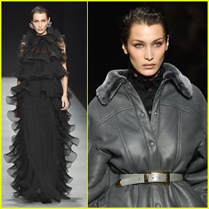 Bella Hadid Wows in Ruffles at Alberta Ferretti's Fashion Show in Milan