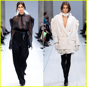 Bella Hadid & Kaia Gerber Continue Milan Fashion Week at Max Mara Show!