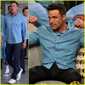Ben Affleck Flexes His Muscles for TV Appearance, Visits Schoolkids in Miami