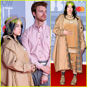 Billie Eilish Matches Her Nails to Her Burberry Outfit at BRIT Awards 2020
