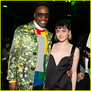 Billy Porter & Maisie Williams Buddy Up at Christopher Kane Fashion Show!