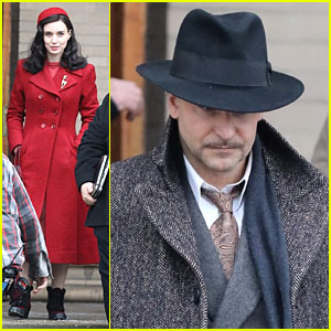 Bradley Cooper Sports a Thin Mustache While Filming 'Nightmare Alley' with Rooney Mara