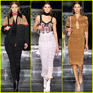 Gigi Hadid, Kendall Jenner, Bella Hadid, & More Walk in Burberry's London Fashion Show!