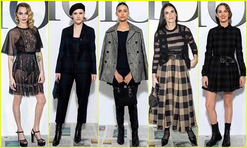 Cara Delevingne, Rachel Brosnahan, Nina Dobrev & More Kick Off Paris Fashion Week at Dior Show!