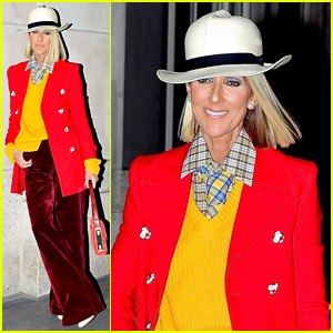 Celine Dion Might Start Fires In Her Marc Jacobs Red Coat She Wore in NYC Tonight