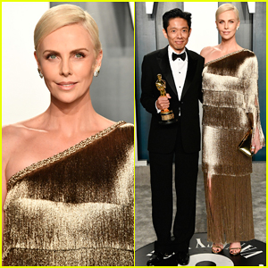 Charlize Theron Hits Vanity Fair Oscars Party with 'Bombshell' Make-Up Winner!