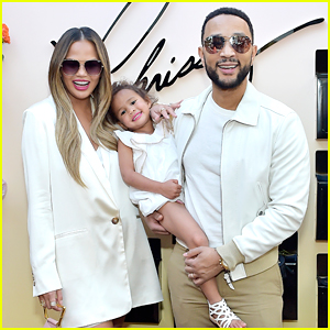 Chrissy Teigen's Daughter Luna Supports Her At Quay Collection Launch Party
