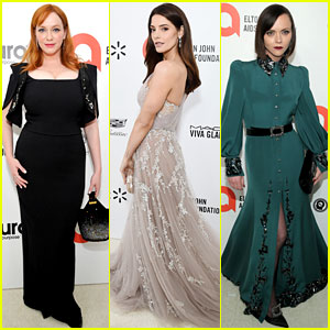 Christina Hendricks, Ashley Greene, & Christina Ricci Get All Dressed Up for Elton John's Oscar Party 2020!