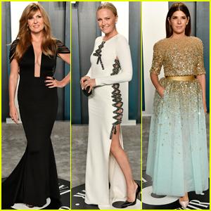 Connie Britton, Malin Akerman, & Marisa Tomei Arrive in Style for Vanity Fair Oscar Party 2020