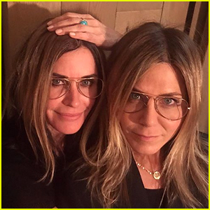 Courteney Cox Tries (& Succeeds) to Look Just Like Her Bestie Jennifer Aniston in Birthday Post