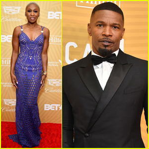Cynthia Erivo & Jamie Foxx Arrive in Style for American Black Film Festival Honors Awards 2020