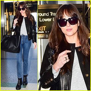 Dakota Johnson Catches a Flight Out of Town on Valentine's Day