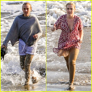 Diane Kruger & Kiernan Shipka Swim in Their Clothes for 'Swimming with Sharks' Filming (Photos)