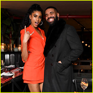 Drake Supports Model Imaan Hammam at Frame's NYFW Party