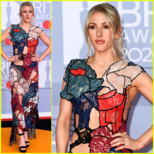Ellie Goulding Shows Some Skin in Colorful Cut-Out Dress at BRIT Awards 2020
