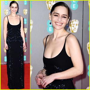 Emilia Clarke Kicks Off the BAFTAs 2020 Red Carpet!