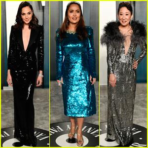 Gal Gadot, Salma Hayek, & Sandra Oh Dazzle at Vanity Fair Oscar Party 2020