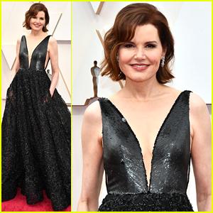 Geena Davis Stuns in Beautiful Black Gown at Oscars 2020