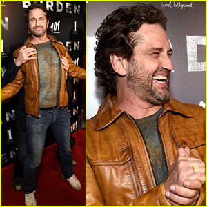 Gerard Butler Shares a Silly Red Carpet Moment with 'Burden' Director at L.A. Screening