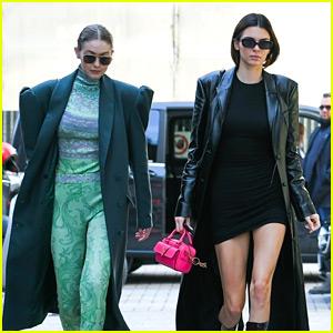 Gigi Hadid & Kendall Jenner Make the Sidewalk Their Runway in Milan!