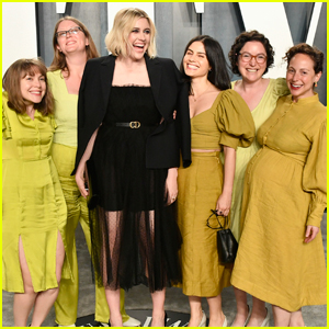 Greta Gerwig is Joined by Friends in Coordinating Outfits at Vanity Fair Oscars Party 2020