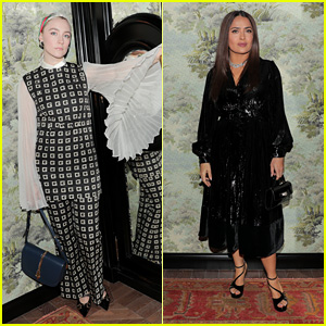Saoirse Ronan & Salma Hayek Celebrate Opening of Gucci & Chef Massimo Bottura's First US Restaurant!