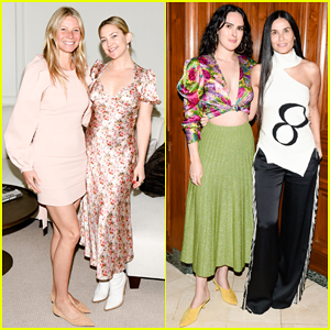Gwyneth Paltrow Hosts Makeup-Free Goop Dinner Party With Kate Hudson & Demi Moore!