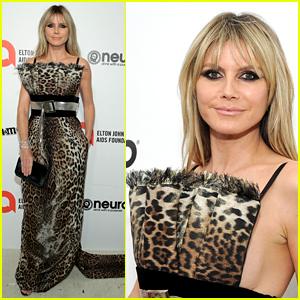 Heidi Klum Rocks Leopard-Print Dress to Oscars Party 2020
