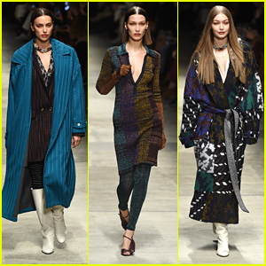 Irina Shayk Walks The Missoni Show With Bella & Gigi Hadid in Milan