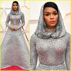 Janelle Monae Shimmers in Silver Gown Ahead of Oscars 2020 Performance