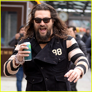 Jason Momoa Flashes a Grin on Early Morning Stroll in NYC