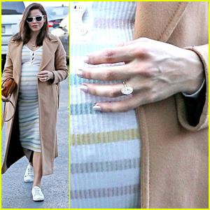 Jenna Dewan Shows Off Engagement Ring & Baby Bump During Errand Run