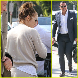 Jennifer Lopez Drops Off Her Fiance Alex Rodriguez for Meeting!