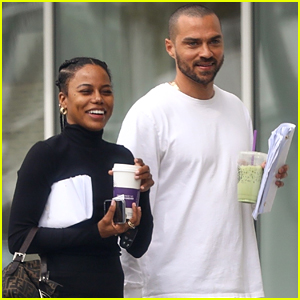 Jesse Williams & Girlfriend Taylour Paige Look Smitten While Spending the Day Together