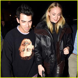 Joe Jonas & Sophie Turner Make It A Date Night Out in London