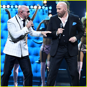 John Travolta Teams Up with Pitbull for Live Performance at Univision's Premio Lo Nuestro 2020 - Watch Here!