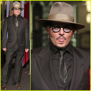 Johnny Depp Sticks Out His Tongue at 'Minimata' Premiere in Berlin