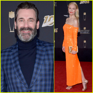 Jon Hamm & Kate Bosworth Arrive in Style for NFL Honors 2020 in Miami