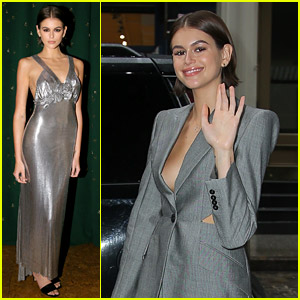 Kaia Gerber Shines in Silver While Celebrating Her Jimmy Choo Collaboration!