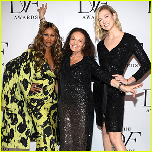 Karlie Kloss Helps Diane von Furstenberg Honor Iman at DVF Awards 2020