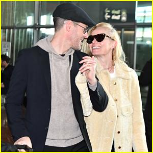 Kate Bosworth & Husband Michael Polish Arrive in Paris As 'Masked Singer' Rumors Swirl