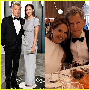 Katharine McPhee Jokes David Foster Found a New Wife at Vanity Fair Oscar Party 2020