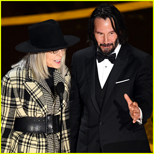 Keanu Reeves & Diane Keaton Have 'Something's Gotta Give' Reunion at Oscars 2020