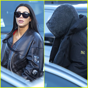 Kim Kardashian & Kanye West Leave Paris After One-Day Trip