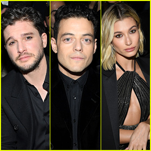 Kit Harington, Rami Malek, Hailey Bieber & More Attend Saint Laurent Fashion Show in Paris