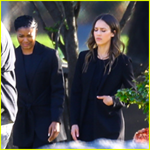 Jessica Alba & Gabrielle Union Film Emotional Scene at a Cemetery for 'L.A.'s Finest'