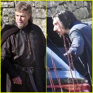 Adam Driver & Matt Damon Film Scenes for 'The Last Duel' in France!