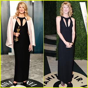 Laura Dern Wears Her Fave Armani Prive Dress For The Third Time at Vanity Fair's Oscar Party