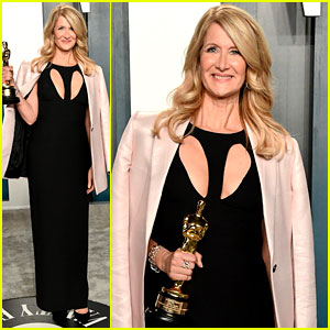 Birthday Girl Laura Dern Brings Her Oscar to the Vanity Fair After Party 2020!